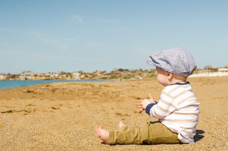 Dagje op het strand fotoshoot